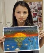 Clasa 10 14 ani Pictura Tempera Apus Maria. 153x187 Rezultate de exceptie la cursurile de pictura si desen