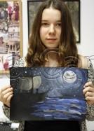 Clasa 10 14 ani Pictura Tempera Mister Melania. 134x187 Rezultate de exceptie la cursurile de pictura si desen