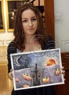 Clasa 10 14 ani Pictura Tempera Pointilism Raluca. 137x187 Rezultate de exceptie la cursurile de pictura si desen