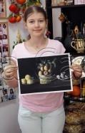 Clasa 10 14 ani Pictura Tempera Reproducere Zurbaran Miruna. 119x187 Rezultate de exceptie la cursurile de pictura si desen
