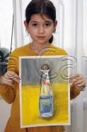 Clasa 10 14 ani Pictura Tempera Sticla Daria. 123x187 Rezultate de exceptie la cursurile de pictura si desen