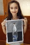 Clasa 10 14 ani Pictura Tempera Sticla Julia. 125x187 Rezultate de exceptie la cursurile de pictura si desen