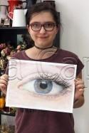Clasa 14 18 ani Pastel Cretat Studiu Ochi Alexandra. 125x187 Rezultate de exceptie la cursurile de pictura si desen