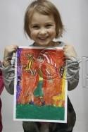 Clasa 4 6 ani Desen Pastel Uleios Personaj Fantastic Kira. 125x187 Rezultate de exceptie la cursurile de pictura si desen