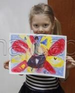 Clasa 4 6 ani Pictura Tempera Personaj Fantastic Anastasia. 151x187 Rezultate de exceptie la cursurile de pictura si desen