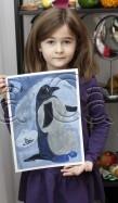 Clasa 4 6 ani Pictura Tempera Pinguin Anna. 109x187 Rezultate de exceptie la cursurile de pictura si desen