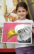 Clasa 4 6 ani Pictura Tempera Vultur Antonia. 118x187 Rezultate de exceptie la cursurile de pictura si desen