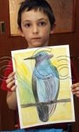 Clasa 6 8 ani Desen Creioane Colorate Colibri Henri. 112x187 Rezultate de exceptie la cursurile de pictura si desen