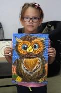 Clasa 6 8 ani Desen Pastel Uleios Bufnita Ema. 122x187 Rezultate de exceptie la cursurile de pictura si desen