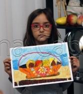 Clasa 6 8 ani Desen Pastel Uleios Cos cu Fructe Julia. 166x187 Rezultate de exceptie la cursurile de pictura si desen