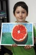 Clasa 6 8 ani Desen Pastel Uleios Grapefruit Cristi. 125x187 Rezultate de exceptie la cursurile de pictura si desen