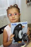 Clasa 6 8 ani Pictura Acrilic Pinguini Ilinca. 125x187 Rezultate de exceptie la cursurile de pictura si desen