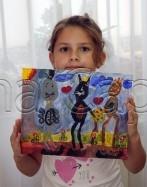 Clasa 6 8 ani Pictura Acrilic Pisici Fantastice Antonia. 147x187 Rezultate de exceptie la cursurile de pictura si desen