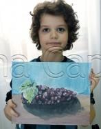 Clasa 6 8 ani Pictura Acrilic Struguri Iustin. 147x187 Rezultate de exceptie la cursurile de pictura si desen