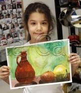 Clasa 6 8 ani Pictura Acuarela Natura Statica Theodora. 163x187 Rezultate de exceptie la cursurile de pictura si desen
