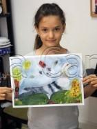 Clasa 6 8 ani Pictura Acuarela Porumbel Antonia. 141x187 Rezultate de exceptie la cursurile de pictura si desen