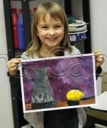 Clasa 6 8 ani Pictura Tempera Natura Statica cu Ulcior si Lamaie Kira. 156x187 Rezultate de exceptie la cursurile de pictura si desen