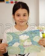 Clasa 6 8 ani Pictura Tempera Nuferi Ana Maria. 150x187 Rezultate de exceptie la cursurile de pictura si desen