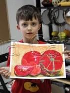 Clasa 6 8 ani Pictura Tempera Rosii Teo. 141x187 Rezultate de exceptie la cursurile de pictura si desen