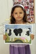Clasa 6 8 ani Pictura Tempera Vaca Alexandra. 125x187 Rezultate de exceptie la cursurile de pictura si desen