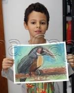 Clasa 8 10 ani Desen Pastel Cretat Tucan Luca. 150x187 Rezultate de exceptie la cursurile de pictura si desen