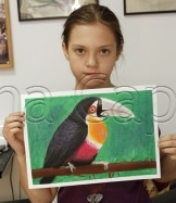 Clasa 8 10 ani Desen Pastel Cretat Tucan Sofia. 162x187 Rezultate de exceptie la cursurile de pictura si desen