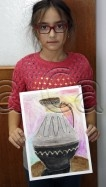 Clasa 8 10 ani Desen Pastel Cretat Ulcior Julia. 106x187 Rezultate de exceptie la cursurile de pictura si desen