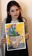 Clasa 8 10 ani Desen Pastel Uleios Ulcior cu Flori Briana. 109x187 Rezultate de exceptie la cursurile de pictura si desen