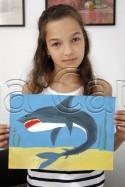 Clasa 8 10 ani Pictura Tempera Rechin Laura. 125x187 Rezultate de exceptie la cursurile de pictura si desen