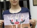 Grup Meditatii 2014 Clasa a 5 a Proba Culoare Compozitie Cu Personaje Diana 130x98 Rezultate admitere la Liceul de Arte Plastice
