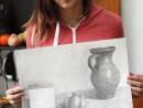 Grup Meditatii 2014 Clasa a 9 a Proba Desen Natura Statica Cu Ulcior Cub Leguma Bianca 130x98 Rezultate admitere la Liceul de Arte Plastice