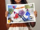 Grup Meditatii 2015 Clasa a 5 a Proba Culoare Compozitie Cu Personaje Yasmin 130x98 Rezultate admitere la Liceul de Arte Plastice