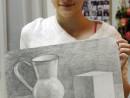 Grup Meditatii 2015 Clasa a 9 a Proba Desen Natura Statica Cu Ulcior Cub Fruct Ana 130x98 Rezultate admitere la Liceul de Arte Plastice