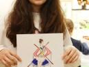 Atelier Design Vestimentar Costumul in Asia Acuarela si Creioane Acuarelabile Ana Maria 130x98 Atelier design vestimentar, Copii 8 18 ani