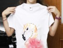 Atelier Design Vestimentar Creatie tricou cu flamingo Eva 130x98 Atelier design vestimentar, Copii 8 18 ani