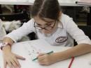 Atelier Design Vestimentar Desen creioane colorate Proportiile corpului uman Ilinca 130x98 Atelier design vestimentar, Copii 8 18 ani