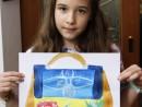 Atelier Design Vestimentar Geanta cu imprimeu in acrilic Maria Carina 130x98 Atelier design vestimentar, Copii 8 18 ani
