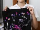 Atelier Design Vestimentar Pictura pe sacosa Zbor cu baloane Ioana 130x98 Atelier design vestimentar, Copii 8 18 ani