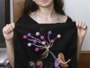 Atelier Design Vestimentar Pictura pe sacosa Zbor cu baloane Miruna 130x98 Atelier design vestimentar, Copii 8 18 ani