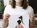 Atelier Design Vestimentar Tinuta inspirata din natura statica Daria 130x98 Atelier design vestimentar, Copii 8 18 ani