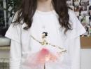 Atelier Design vestimentar Creatie tricou cu balerina Manuela 130x98 Atelier design vestimentar, Copii 8 18 ani