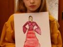 Atelier design vestimentar Costumul in Renastere Pictura in acuarela Anastasia 130x98 Atelier design vestimentar, Copii 8 18 ani