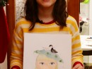 Atelier design vestimentar Palarie cu chip Pictura in acuarele Ioana 130x98 Atelier design vestimentar, Copii 8 18 ani