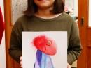 Atelier design vestimentar Studiu drapaj cu palarie Pictura in acuarele Denisa1 130x98 Atelier design vestimentar, Copii 8 18 ani