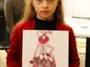 Design Vestimentar Carnval Venetia Ilustratie in creioane cerate Anastasia 130x98 Atelier design vestimentar, Copii 8 18 ani