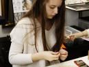 Design Vestimentar Colier cusut cu margele Ana Maria 130x98 Atelier design vestimentar, Copii 8 18 ani