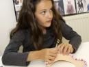 Design Vestimentar Colier cusut cu margele Antonia 130x98 Atelier design vestimentar, Copii 8 18 ani
