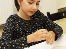 Design Vestimentar Colier cusut cu margele Ioana 130x98 Atelier design vestimentar, Copii 8 18 ani