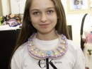 Design Vestimentar Colier cusut cu margele Miruna1 130x98 Atelier design vestimentar, Copii 8 18 ani