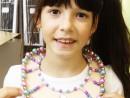 Design Vestimentar Colier cusut si decorat cu margele Ana 130x98 Atelier design vestimentar, Copii 8 18 ani